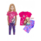 Baby Pajamas - Anna Elsa Purple Pants Short
