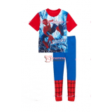 Baby Pajamas - Spiderman Grid Red Blue