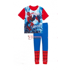 Baby Pajamas - Spiderman Grid Red Blue