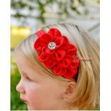 Baby Headband - Silk Red