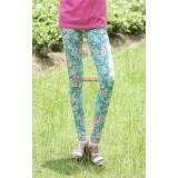 Maternity Pants - Long Green Flora