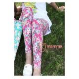 Maternity Pants - Long Pink Flora