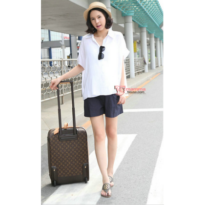 Maternity Shorts - Korean U Pocket (Black or Dark Blue)