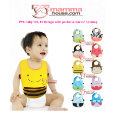 Baby Bib - PVC bib with pocket / pc